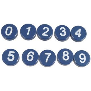 Kids Educational Arabic Number Button Fridge Refrigerator Magnets 10 Pcs