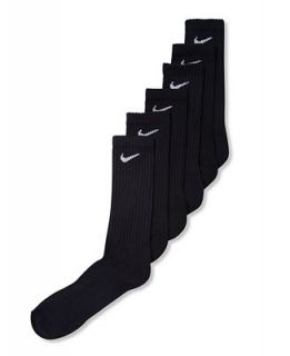 Nike Mens Cotton Crew Socks 6 Pack 12 Socks   Socks   Men