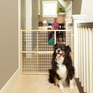 North States Extra wide Wire Mesh Pet Gate   17430644