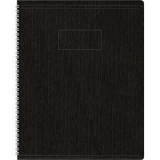 Blueline Ecologix Business Notebook, Flexible Black Soft Cover, Recycled, Twin Wire, 160 Pages / 80 Sheets, 8 7/8 x 7 1/8