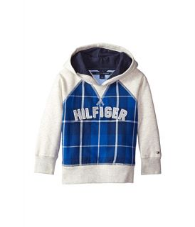 Tommy Hilfiger Kids Flannel Fleece Pullover Hoodie (Toddler/Little Kids)