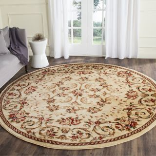 Safavieh Lyndhurst Collection Floral Ivory Rug (8 Round)   10498444