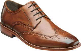 Mens Florsheim Castellano Wing Tip   Saddle Tan Smooth Leather