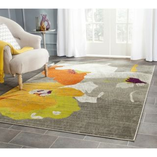 Safavieh Porcello Dark Grey/ Ivory Rug (52 x 76)