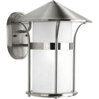 Progress Lighting Welcome Collection Wall Mount Outdoor Stainless Steel Lantern DISCONTINUED P6005 135