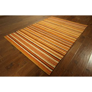 VH1280 Hand knotted Wool Striped Kilim Flat Weave Area Rug (57 x 8