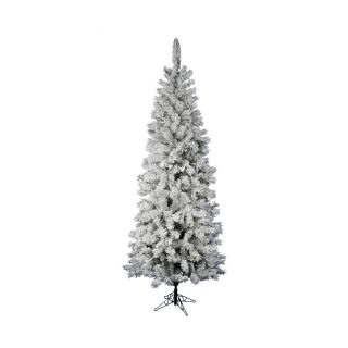 Vickerman 6.5 ft Flocked Slim Artificial Christmas Tree