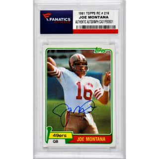 Joe Montana San Francisco 49ers  Authentic Autographed 1981 Topps #216 Rookie Card