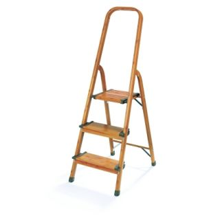 Polder 3 Step Wood Grain Look Step Stool (LDR 3500 83)   Step Ladders