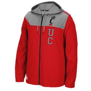 adidas College Campus Full Zip Hoodie   Mens   Clothing   Louisville Cardinals   Red/Grey