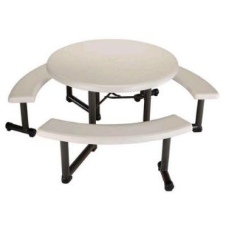 Lifetime 44 in. Round Picnic Table with 3 Benches 22127