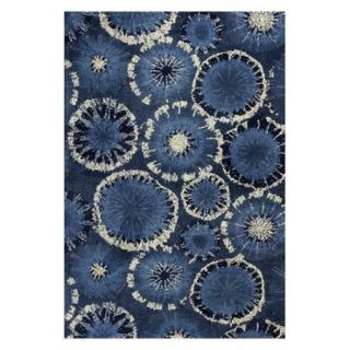 KAS Rugs Allure 4060 Green Starburst Hand Tufted 100% Polyester Area Rug with Co
