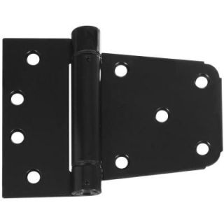 National Hardware 3 1/2 in. Black Heavy Duty Auto Close Gate Hinge V278 3 1/2 SPR GT HG BLK
