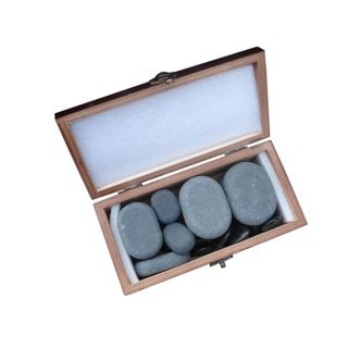 Basalt Lava 20 piece Hot Stone Massage Stones Kit   12290714