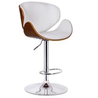 Boraam White Osa Adjustable Swivel Stool 99531