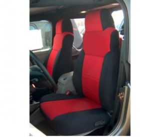 Coverking   Coverking Front Black/Red Seat Covers Neoprene SPC126   Fits 2003 to 2006 TJ Wrangler, Rubicon and Unlimited