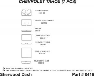 1999 2002 Chevy Silverado Wood Dash Kits   Sherwood Innovations 0416 N50   Sherwood Innovations Dash Kits