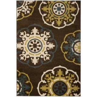 Safavieh Newbury Snowfall Brown/ Blue Rug (51 x 76)   14645911