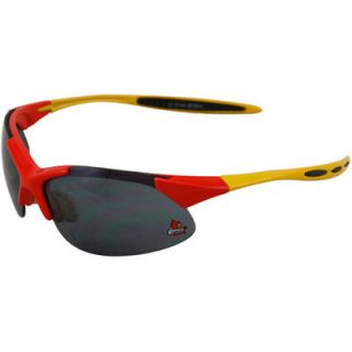 Louisville Cardinals Red Gold Half Frame Sport Sunglasses