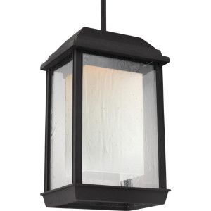 Feiss FEI OL12809TXB LED McHenry Textured Black  Outdoor Pendants Lighting