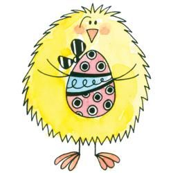 Penny Black Chick & Egg Rubber Stamp   14198803