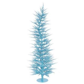3' Pre Lit Whimsical Sky Blue Artificial Laser Christmas Tree   Clear Lights