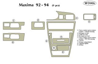 1992, 1993, 1994 Nissan Maxima Wood Dash Kits   B&I WD006 DCF   B&I Dash Kits