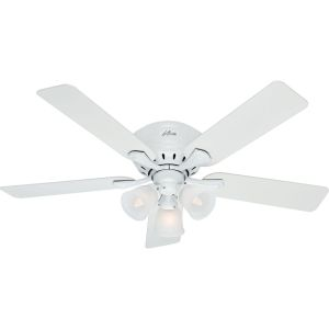 Hunter HUF 53011 Reinert White  Ceiling Fans Lighting