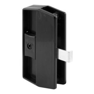 Prime Line Black Academy Snap In Sliding Screen Door Latch and Pull A 180