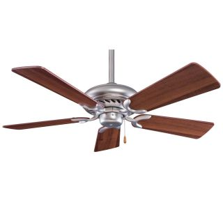 Minka Aire F563 BS DW Supra 44 Ceiling Fan in Brushed Steel with Dark Walnut Blades   blades Included