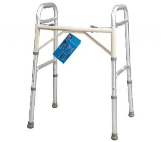 Carex Dual Button Extra Wide Adjustable Walker —