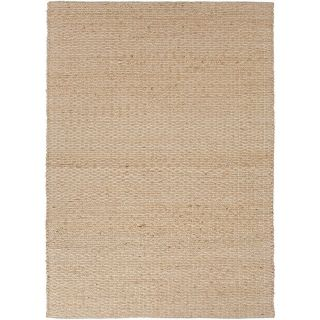 Jaipur RUG100011 Andes Naturals Solid Pattern Jute Cotton Taupe Gray Area Rug