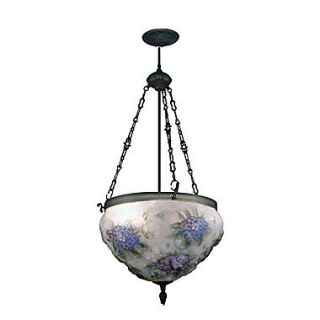 Dale Tiffany Hydrangea Pairpoint 3 Light Foyer Inverted Pendant