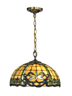 Dale Tiffany TH12234 Antique Brass Pendant Light