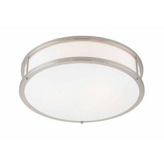 Access Lighting Conga 19 in W Brushed Steel Ceiling Flush Mount Light