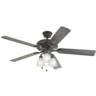 Home Decorators Collection Trentino II 60 in. Natural Iron Indoor/Outdoor Ceiling Fan YG475 NI