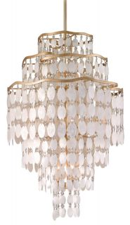 Corbett Lighting 109 712 Champagne Leaf Pendant Light