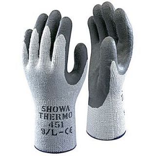 Showa Best Glove ATLAS Therma Fit 451 Gray Coated General Purpose Gloves, Small