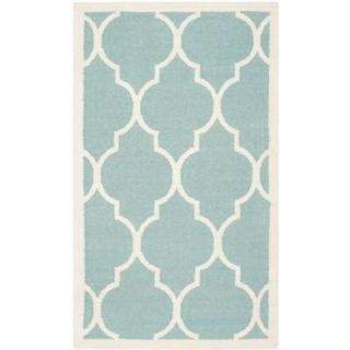 Safavieh Dhurries Light Blue/Ivory 3 ft. x 5 ft. Area Rug DHU632C 3