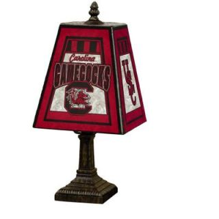 The Memory Company NCAA 14 in. South Carolina Gamecocks Art Glass Table Lamp DISCONTINUED COL USC 462