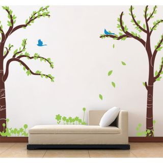 Pop Decors Love Twin Tree Removable Vinyl Art Wall Decal