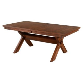 Powell Kraven Dining Table   Brown