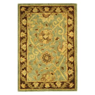 Safavieh Antiquities AT21H Area Rug   Green/Brown   Area Rugs
