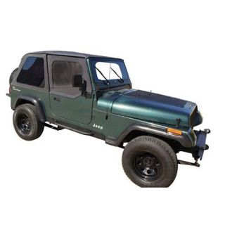 Rampage   Rampage Sailcloth Trail Top Soft Top (Black Diamond) Bowless, 109435   Fits 1992 to 1995 YJ Wrangler
