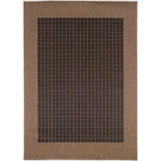 Couristan Recife Checkered Field Rug, Black/Cocoa