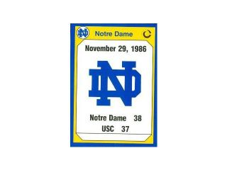 Autograph Warehouse 91418 1986 Usc Football Card Notre Dame 1990 Collegiate Collection No. 197