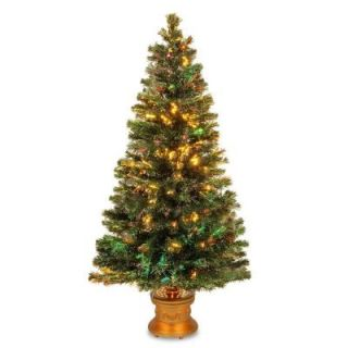 National Tree Company 4 ft. Fiber Optic Fireworks Evergreen Artificial Christmas Tree SZEX7 100 48