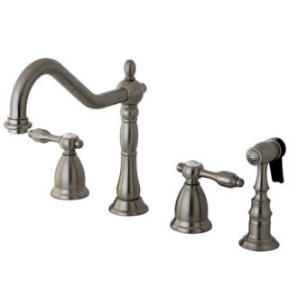 Kingston Brass KS1798TALBS Satin Nickel Kitchen Faucet