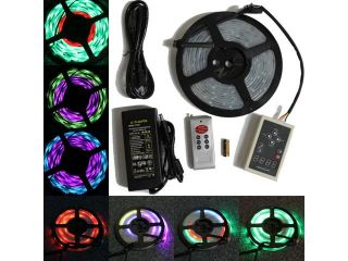 LED4everything (TM) 5M 16.4ft RGB 133 Dream color 5050 6803 IC Waterproof LED Strip + Remote + Power