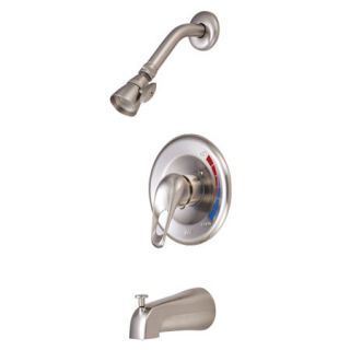Kingston Brass KB698 Satin Nickel Tub And Shower Faucet